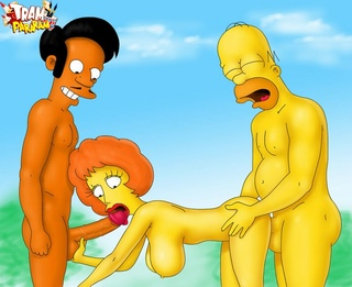 adult simpsons toons