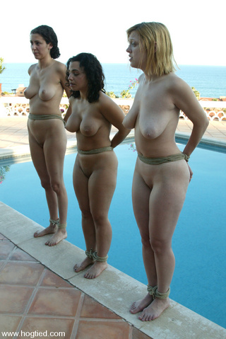 hog tied nude girls