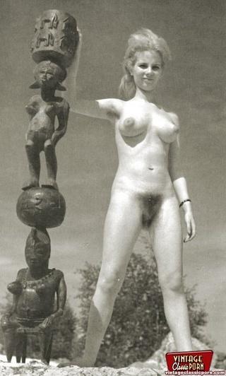 nudists sixties showing outdoor