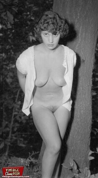 fifties ladies naked backyard