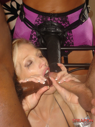 busty blonde takes cock