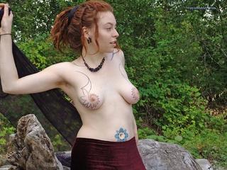 redhead dreadlocks young hippie