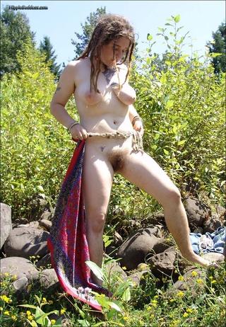 curvy dread locked hippie