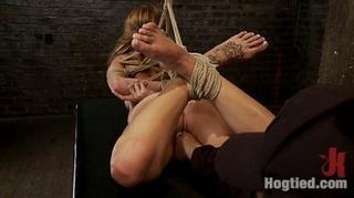 bratty 19yr bound knees