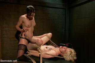 captured blonde slave girl