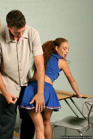 cute cheerleader spanked hard