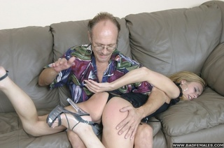 shocking bare bottom spanking