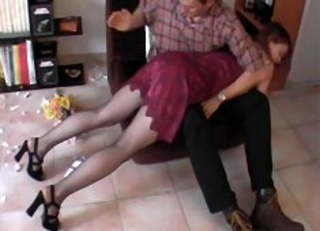shameful bare bottom spanking