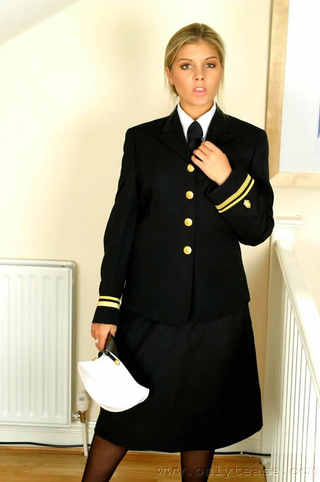 naval uniform with black