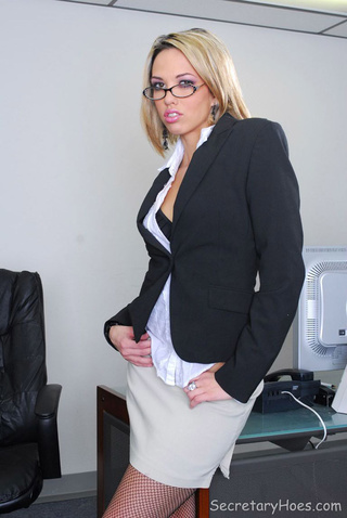 blonde office secretary jenny