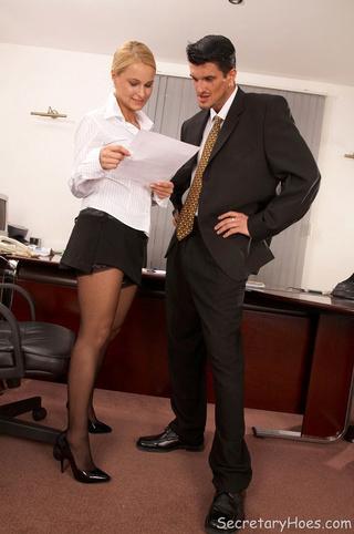blonde office slut emma