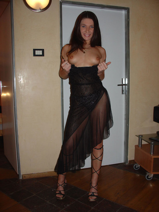 amazing dark haired milf
