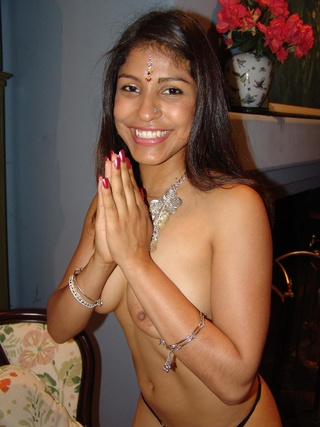 cute indian mehla gobbles