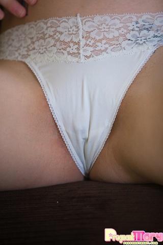 stunning pregnant brunette tight