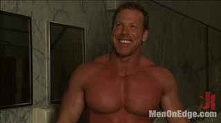 muscular naked guy forget