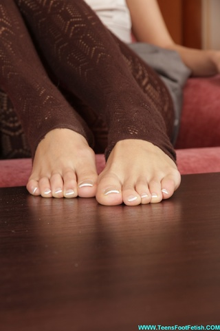 perfect feet erotic brunette