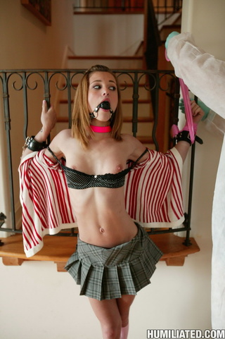 Ball gagged and tied tgp