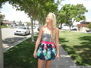 picked street blonde teen