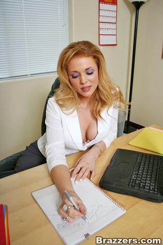 busty secretary getting doggy