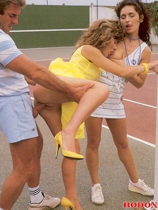 real horny retro tennis