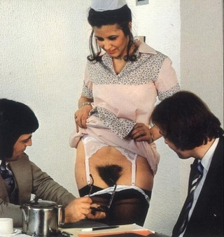 wet hairy seventies pussy